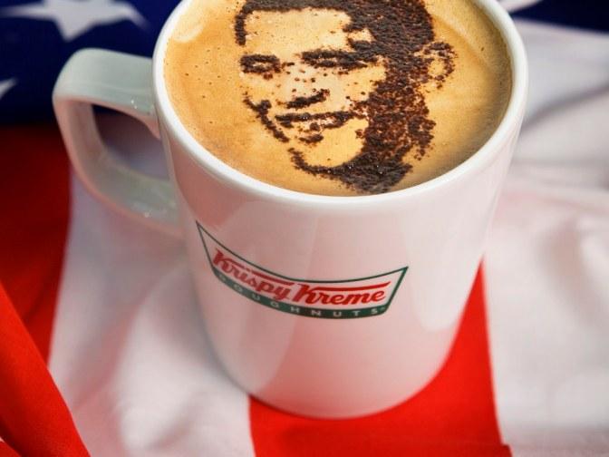 Barack Obama Coffee Art